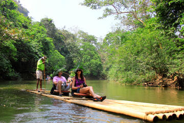 3-Day Khao Sok National Park Family Adventure Tour including Elephants and Bamboo Rafting