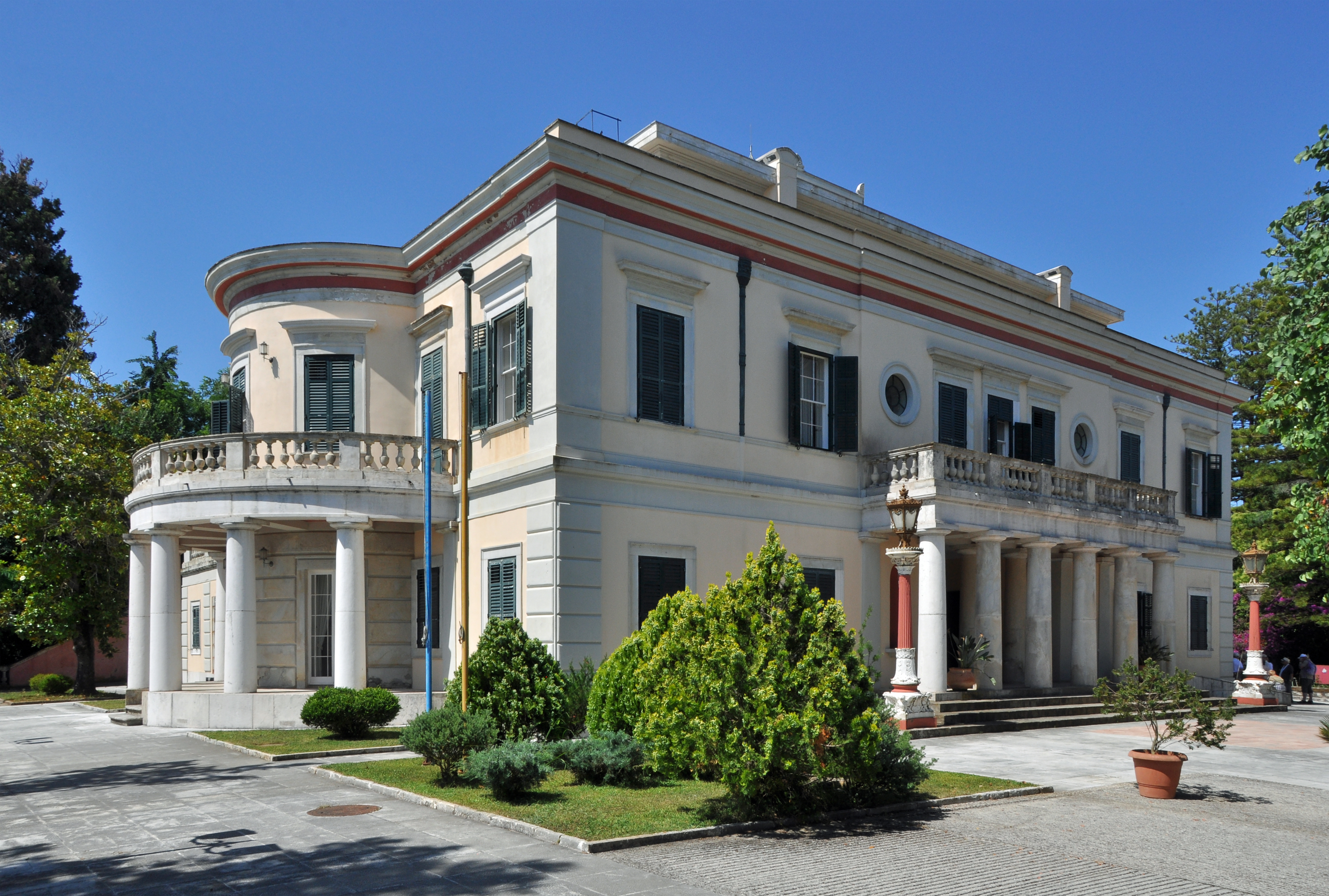 Corfu Greece Palace