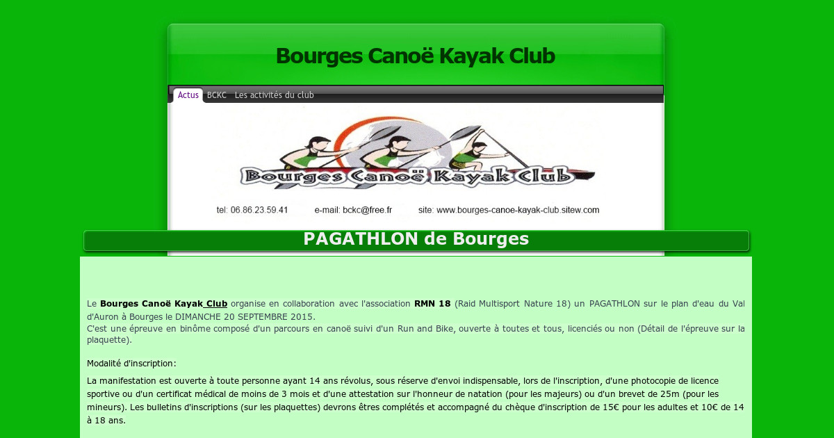 Bourges France Kayak