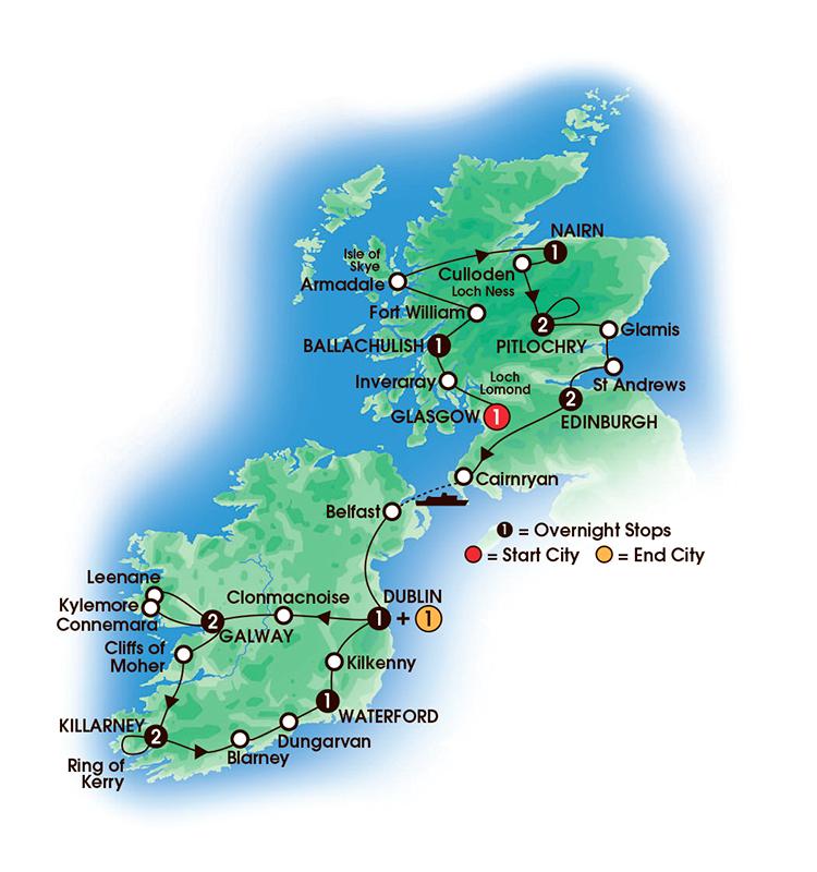 15 Ireland Tours